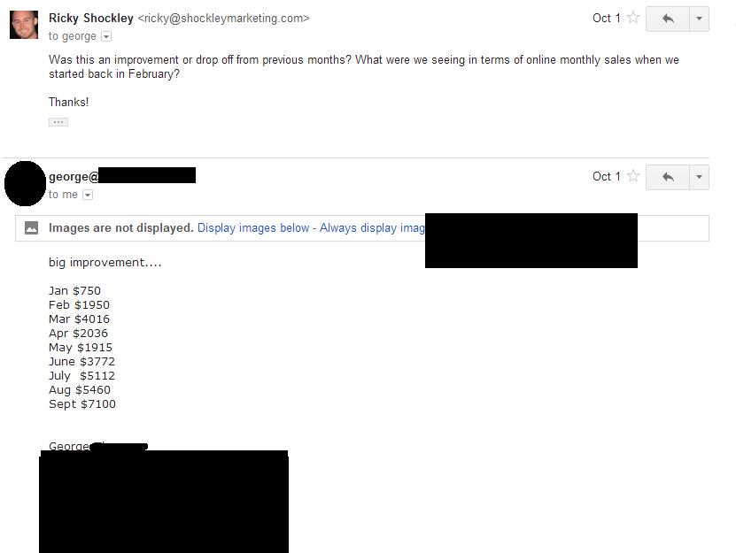 PBG Shoe Retailer Sales Numbers Email